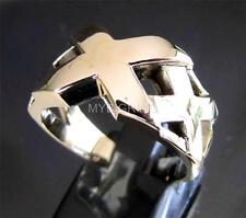 BRONZE INITIAL RING TRIPLE X XXX HARDCORE RACING LONELY RIDER ANTIQUED ANY SIZE