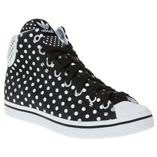 New Womens adidas Black Multi Vulc Star Mid Suede Trainers Hi Top Lace Up