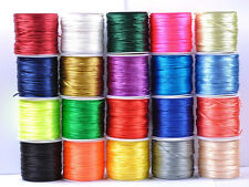 1Roll Chinese Knot Nylon Beading Thread String Jewelry Cord 1.5-2.5MM 20Colour