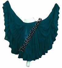 TMS DARK TEAL 25 Yard 4 Tier Skirt Belly Dance Gypsy Costume Troup Tribal JUPE