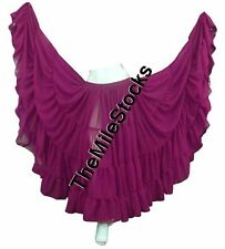 TMS VIOLET RED 25 Yard 4 Tier Skirt Belly Dance Gypsy Costume Troup Tribal JUPE