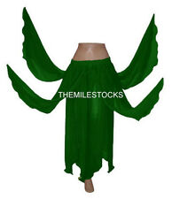 TMS E GREEN 8 Petal Skirt Belly Dance Penal TRIBAL Gypsy Costume Club JUPE DANSE