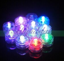 Battery Operated Submersible LED Tea Lights Waterproof Wedding Floral Vase x12 I