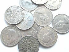 BUY 2 GET 1 FREE 1947 TO 1981 LARGE OLD GEORGE VI/ELIZABETH II TWO SHILLING 10P