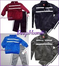 PUMA OUTFIT SET JACKET TRACK TRICOT ZIP LONG PANTS BOYS SZ 3 6 9 MONTHS NEW
