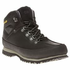 New Mens Caterpillar Black Restore Leather Boots Hikers Lace Up DLS