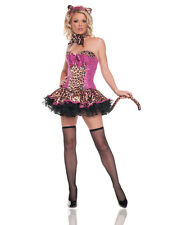 STUNNING PINK SEQUINS LEOPARD CORSET TUTU COSTUME STARLINE TABBY KITTY CAT PRIN