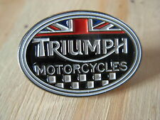 Triumph motorcycle pin badge. British motorcycle. Trident Bonneville Tiger cub