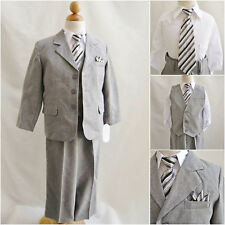 Toddler teen Boy silver/light gray formal suit wedding graduation prom party