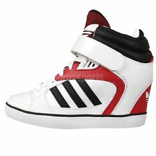 Adidas Originals Amberlight UP W White Black Red Womens Wedges Casual Shoes