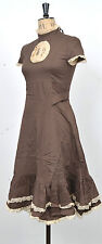 NEW BROWN CUT OUT BUCKLE DRESS XS S M L XL STEAMPUNK WENCH MEDIEVAL OKTOBERFEST