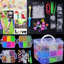 Wholesale Colourful Rubber Multicolored Bands Bracelet DIY Making Kit Clips Hook