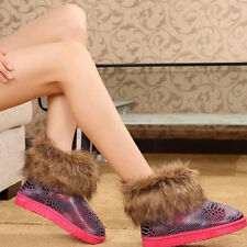 Hot Womens Winter Big Faux Fox Fur Warm Snow Boots Thick Sole Boots Shoes cheap