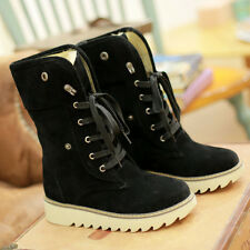 Fashion New Women boots comfort shoes flats round toes Ankle Winter Warm heels