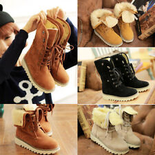 Fashion Womens Boots Comfort Shoes flats Round Toes Ankle Winter Warm heels