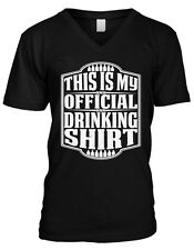 This Is My Official Drinking Shirt Beer Alcohol Pub Crawl Mens V-neck T-shirt