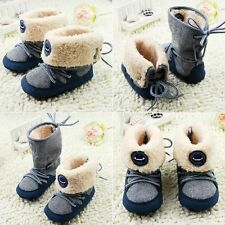 Baby Boy Girl Infant Toddler Winter Faux Fur Shoes Snow Boots Warm Crib Shoe JUo