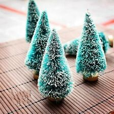 5pcs Christmas Ornaments Cute Mini Christmas Tree Shape Christmas Decorations