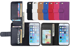 Folio PU Leather Card Slots Magnetic Flip Stand Wallet Case For iPhone 6 6S Plus