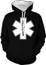 EMS EMT Star Of Life First Responders First Aid Emergency 2-tone Hoodie Pullover