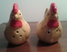EUC 5 SETS CERAMIC COLLECTIBLE SALT AND PEPPER SHAKERS CHICKEN ROOSTER APPLES+++