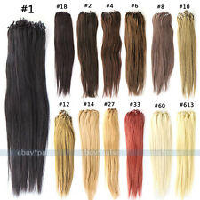 100s 0.5g/s Loop Micro Ring Beads Real Straight Remy Human Hair Weave Extensions