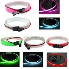 1M 12V Bike Party Flexible EL Glow Neon Light Bar Wire Rope Strip 5 Colors