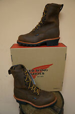 MENS RED WING 9 INCH LOGGER WORK BOOT STEEL TOE & WATERPROOF! 4420!