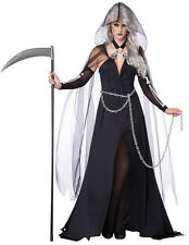 Sexy Womens Grim Reaper Skeleton Witch Halloween Costume
