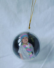 NEW CHRISTMAS BAUBLE PHOTO FRAME MAKE PERSONALISE YOUR OWN DECORATION PMS