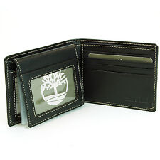 Timberland Mens Wallet Italian Leather Passcase Flip Up Bifold ID Card Slots New