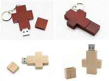 Wooden cross model USB 2.0 Memory Stick Flash pen Drive 4GB 8GB 16GB 32GB P574