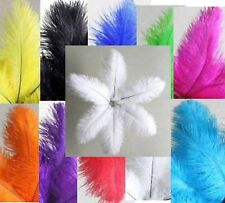 """5 OSTRICH feathers 12-14"""" Choose Color Quills Drabs Plumes 30-35cm"""