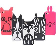 Hot Cute Cartoon Cat Pattern Soft Silicone Case Cover For iPhone 5 5G 5S 5C K197