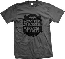 Lose The Razor Its Playoff Time Beard Sports Ritual Tradition Mens T-shirt