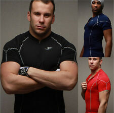 Popular Mens Sport Quick Dry Stretch T-Shirts Top Tee Athletic 3 Colors WK CA 3