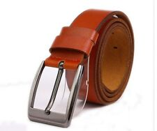 Mens Leisure Genuine Leather Belt Pin Buckle Waistband (3 colors )