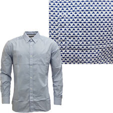 Mens French Connection Aztec Long Sleeve Shirt