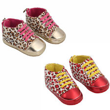 Infant Toddler Baby Boy Girl Soft Sole Crib Shoes Sneaker Leopard Print Multi Co