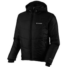New Columbia mens Omni Heat hooded winter ski jacket coat Black S M L XL XXL
