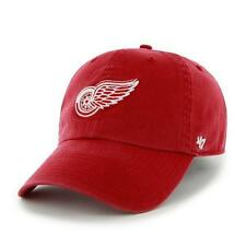 Detroit Red Wings 47 Brand Franchise Fitted Curved Bill NHL Hat Red Small NEW