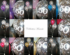 Happy 50th Birthday Party Helium Balloon Decoration DIY Clusters 20 tables Kit