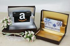 Gift Card Box Pop-Up Holder, Gold Silver Interior Boxes, Birthday Party Present