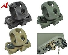 "Quick Release 1"" Flashlight Clamp Holder Mount for FAST Helmet Rail Surefire"