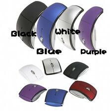 For Microsoft Laptop 2.4GHz Wireless Foldable Folding Arc Optical Mouse USB New#