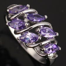 Purple Amethyst Topaz Gemstones Silver AWESOME Rings US#Size5 6 7 8 9 T0729
