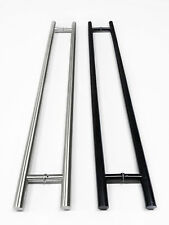 "Commercial 36"", 48"", 72"" Long Handles, Brushed or Flat Black, Push Pull Entrance"