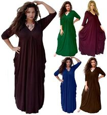 @R419 MAXI DRESS EMPIRE LINE JERSEY S M L XL 1X 2X 3X 4X 5X 6X MADE TO ORDER