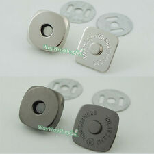 "Magnetic snaps purse Square 18mm 3/4"" closures Clasp for Bag Leather 10 20 50"