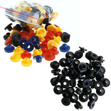 Black/Colorful 100PCS Tattoo Rubber Grommets Nipples for Tattoo Machine Needles